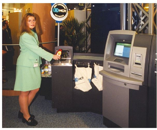 first original self-checkout 1990s: the scan and go